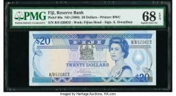 Fiji Reserve Bank of Fiji 20 Dollars ND (1988) Pick 88a PMG Superb Gem Unc 68 EPQ.   HID09801242017
