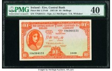 Ireland Central Bank of Ireland 10 Shillings 1.9.1959 Pick 56d PMG Extremely Fine 40.   HID09801242017