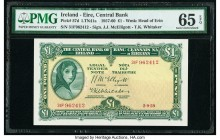 Ireland Central Bank of Ireland 1 Pound 2.9.1959 Pick 57d PMG Gem Uncirculated 65 EPQ.   HID09801242017