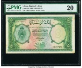 Libya Bank of Libya 5 Pounds 1963 / AH1382 Pick 26 PMG Very Fine 20. Annotation.  HID09801242017