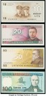 Lithuania Lietuvos Bankas 10; 20; 50; 100 Litu 1991 (1993) Pick 47a; 48; 49a; 50a Choice Crisp Uncirculated.   HID09801242017