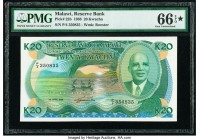 Malawi Reserve Bank of Malawi 20 Kwacha 1.4.1988 Pick 22b PMG Gem Uncirculated 66 EPQ S.   HID09801242017