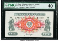 Northern Ireland Bank of Ireland 5 Pounds 15.8.1935 Pick 52b PMG Extremely Fine 40.   HID09801242017