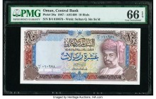 Oman Central Bank of Oman 10 Rials 1987 / AH1408 Pick 28a PMG Gem Uncirculated 66 EPQ.   HID09801242017