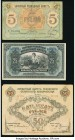 Russia Government Credit Notes 25; 100 Rubles 1918 Pick 39A; 40; State Currency Note 15,000 1923 (1924) Pick 182 Fine or Better; Three Issues from the...