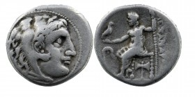 Kings of Macedon, Demetrios I Poliorketes AR Drachm In the name and types of Alexander III. Miletos, circa 300-295 BC. Head of Herakles right, wearing...