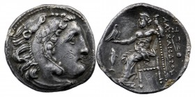 "Kings of Macedon. Magnesia ad Maeandrum. Alexander III ""the Great"" 336-323 BC  Struck circa 319-305 BC Drachm AR  Head of Herakles right, wearing lion..."