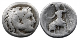 "Kings of Macedon. Alexander III ""the Great"" 336-323 BC. Drachm AR 4,09 gr. 16 mm"