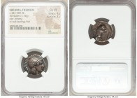 LUCANIA. Thurium. Ca. 443-400 BC. AR stater (20mm, 7.74 gm, 3h). NGC Choice VF 4/5 - 2/5. Head of Athena right, wearing laureate crested Attic helmet ...