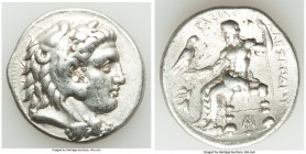 MACEDONIAN KINGDOM. Alexander III the Great (336-323 BC). AR tetradrachm (29mm, 17.02 gm, 2h). Choice VF, scratches. Posthumous issue of Tarsus, ca. 3...