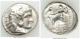 MACEDONIAN KINGDOM. Alexander III the Great (336-323 BC). AR tetradrachm (29mm, 17.20 gm, 6h). About XF, scratches. Posthumous issue under Seleucus I,...