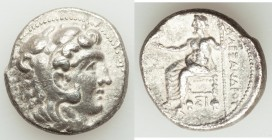 MACEDONIAN KINGDOM. Alexander III the Great (336-323 BC). AR tetradrachm (24mm, 16.98 gm, 1h). VF. Lifetime issue of Sidon, undated issue, ca. 332-324...