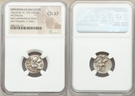 MACEDONIAN KINGDOM. Alexander III the Great (336-323 BC). AR drachm (17mm, 12h). NGC Choice XF. Posthumous issue of Lampsacus, ca. 310-301 BC. Head of...