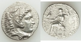 MACEDONIAN KINGDOM. Philip III Arrhidaeus (323-317 BC). AR tetradrachm (27mm, 16.41 gm, 1h). Choice XF, porosity. Myriandrus, ca. 323-317 BC. Head of ...