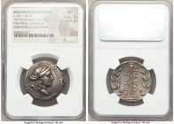 MACEDON UNDER ROME. First Meris. Ca. 167-148 BC. AR tetradrachm (29mm, 16.18 gm, 9h). NGC VF 5/5 - 4/5 Bust of Artemis right, wearing stephane, bow an...
