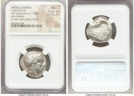 ATTICA. Athens. Ca. 440-404 BC. AR tetradrachm (24mm, 17.20 gm, 7h). NGC MS 4/5 - 4/5. Mid-mass coinage issue. Head of Athena right, wearing crested A...