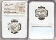 ATTICA. Athens. Ca. 440-404 BC. AR tetradrachm (25mm, 17.21 gm, 6h). NGC MS 3/5 - 4/5. Mid-mass coinage issue. Head of Athena right, wearing crested A...