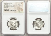 ATTICA. Athens. Ca. 440-404 BC. AR tetradrachm (24mm, 17.16 gm, 10h). NGC Choice XF 5/5 - 3/5, Full Crest, scratches. Mid-mass coinage issue. Head of ...