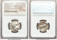 ATTICA. Athens. Ca. 440-404 BC. AR tetradrachm (24mm, 17.20 gm, 2h). NGC Choice XF 5/5 - 4/5. Mid-mass coinage issue. Head of Athena right, wearing cr...