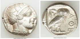 ATTICA. Athens. Ca. 440-404 BC. AR tetradrachm (24mm, 17.20 gm, 9h). XF. Mid-mass coinage issue. Head of Athena right, wearing crested Attic helmet or...