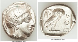 ATTICA. Athens. Ca. 440-404 BC. AR tetradrachm (25mm, 17.21 gm, 3h). XF. Mid-mass coinage issue. Head of Athena right, wearing crested Attic helmet or...
