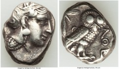 ATTICA. Athens. Ca. 393-294 BC. AR tetradrachm (23mm, 17.08 gm, 7h). XF. Head of Athena right, wearing crested Attic helmet ornamented with three laur...