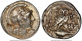 ATTICA. Athens. 2nd-1st centuries BC. AR tetradrachm (28mm, 16.74 gm, 11h). NGC XF 5/5 - 3/5, light scratches. New Style coinage, ca. 119/8 BC, Dionys...