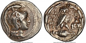 ATTICA. Athens. 2nd-1st centuries BC. AR tetradrachm (29mm, 16.78 gm, 11h). NGC Choice VF 5/5 - 4/5. New Style coinage, ca. 119/8 BC, Dionysi-, Dionys...
