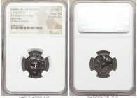 CARIAN ISLANDS. Rhodes. Ca. 250-205 BC. AR didrachm (19mm, 6.58 gm, 2h). NGC Choice VF 4/5 - 3/5. Ca. 225-205 BC, Ameinias, magistrate. Radiate facing...