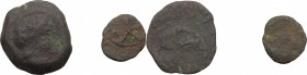 Etruria, uncertain mint. Multiple lot of two (2) unclassified AR(?) coins of doubtful attribution: mm. 16 g. 374: mm. 10 g. 0,48