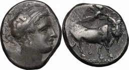 Central and Southern Campania, Neapolis. AR Didrachm, c. 300-275 BC