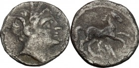 Akragas.  Punic Occupation.. AR Quarter-Shekel, c. 214-210 BC