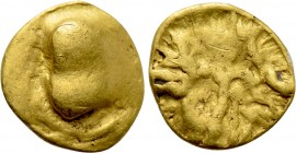 "CENTRAL EUROPE. Boii. GOLD 1/24 Stater (2nd-1st centuries BC). ""Athena Alkis"" type."