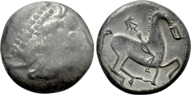 EASTERN EUROPE. Imitations of Philip II of Macedon (2nd century BC). Tetradrachm...