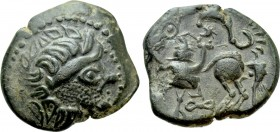 "EASTERN EUROPE. Imitations of Philip II of Macedon (2nd-1st centuries BC). AE Tetradrachm. ""Kapostaler"" type."
