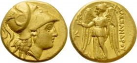 KINGS OF MACEDON. Alexander III 'the Great' (336-323 BC). GOLD Stater. Sidon. Dated RY 10 of Abdalonymos (324/3 BC). Lifetime issue.