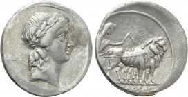 OCTAVIAN. Denarius (30-29 BC). Uncertain mint in Italy, possibly Rome.