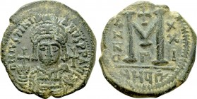 JUSTINIAN I (527-565). Follis. Theoupolis (Antioch). Dated RY 21 (547/8).