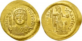 JUSTIN II (565-578). GOLD Solidus. Thessalonica.