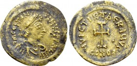 TIBERIUS II CONSTANTINE (578-582).  Fourrée Tremissis. Contemporary imitation of Constantinople.