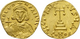 "LEO III THE ""ISAURIAN"" (717-741). GOLD Solidus. Constantinople."