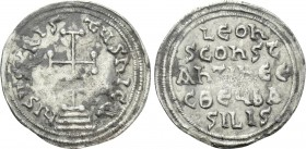 LEO III THE ISAURIAN with CONSTANTINE V (717-741). Miliaresion. Constantinople.
