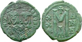 MICHAEL I RHANGABE with THEOPHYLACTUS (811-813). Follis. Constantinople.