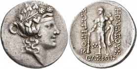 ISLANDS OFF THRACE, Thasos. Circa 168/7-148 BC. Tetradrachm (Silver, 32 mm, 17.00 g, 11 h). Head of Dionysos to right, wearing ivy wreath and taenia. ...