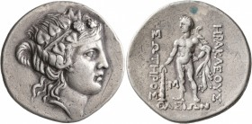 ISLANDS OFF THRACE, Thasos. Circa 168/7-148 BC. Tetradrachm (Silver, 33 mm, 16.85 g, 1 h). Head of Dionysos to right, wearing ivy wreath and taenia. R...