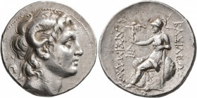 KINGS OF THRACE. Lysimachos, 305-281 BC. Tetradrachm (Silver, 30 mm, 17.22 g, 1 h), Lampsakos, circa 297/6-282/1. Diademed head of Alexander the Great...