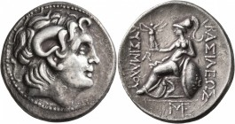 KINGS OF THRACE. Lysimachos, 305-281 BC. Tetradrachm (Silver, 31 mm, 16.46 g, 12 h), uncertain mint. Diademed head of Alexander the Great to right wit...