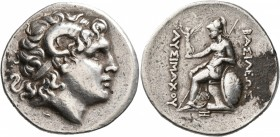 KINGS OF THRACE. Lysimachos, 305-281 BC. Tetradrachm (Silver, 30 mm, 16.90 g, 12 h), uncertain mint, possibly Byzantion, circa 275-250. Diademed head ...