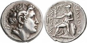 KINGS OF THRACE. Lysimachos, 305-281 BC. Tetradrachm (Silver, 28 mm, 16.91 g, 12 h), Lampsakos, circa 270-250. Diademed head of Alexander the Great to...