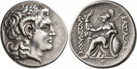 KINGS OF THRACE. Lysimachos, 305-281 BC. Tetradrachm (Silver, 30 mm, 16.79 g, 1 h), Parion, circa 270-250. Diademed head of Alexander the Great to rig...